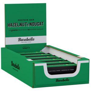 12 X Barebells Protein Bar, 55 G, Hazelnut & Nougat