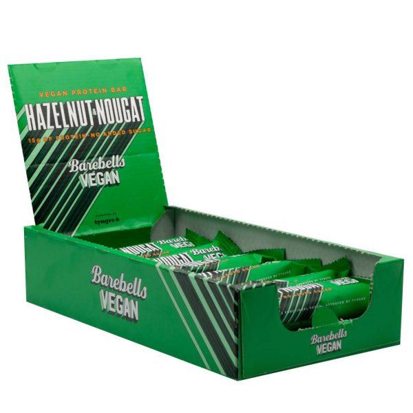12 X Barebells Vegan Protein Bar, 55 G, Hazelnut & Nougat