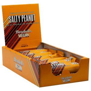 12 X Barebells Vegan Protein Bar, 55 G, Salty Peanut