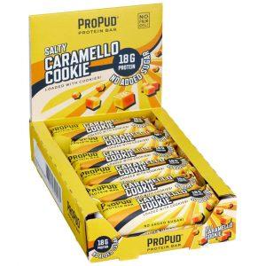 12 X Njie Propud Proteinbar, 55 G, Salty Caramello Cookie