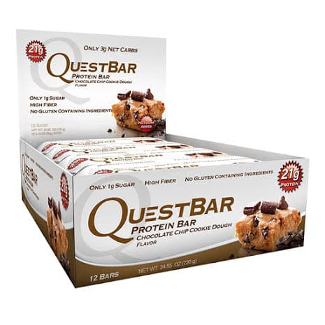 Quest Bars 12st 60g - Chocolate Chip Cookie Dough