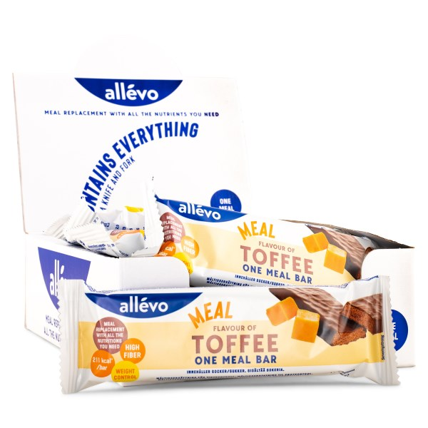 Allevo One Meal Bar Toffee 20-pack